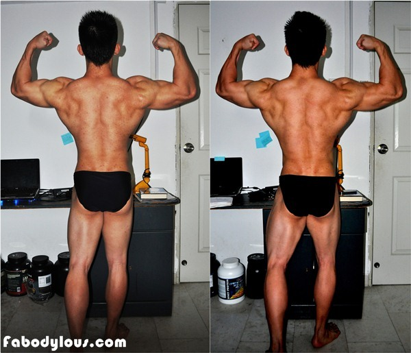 Back Double Biceps Comparison