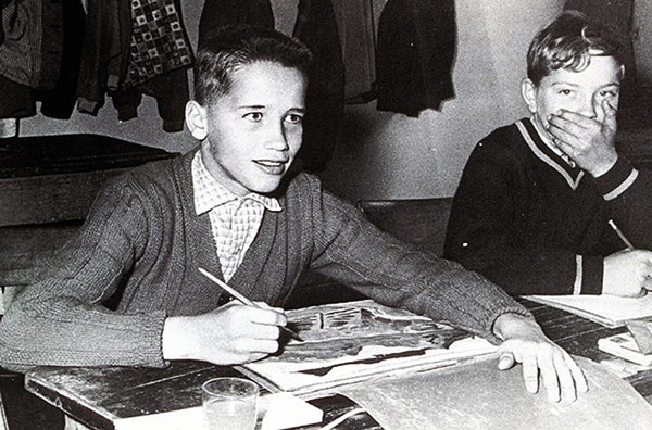 Young Arnie at school
