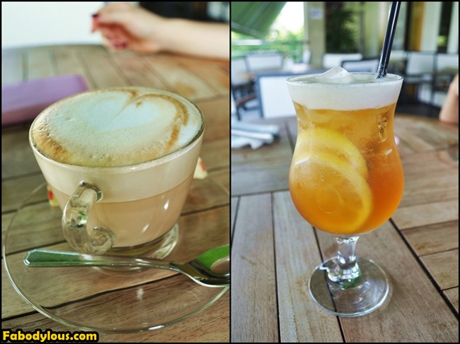 Cappuccino & lemon Earl Grey tea are our beverages of choice for brekkie.