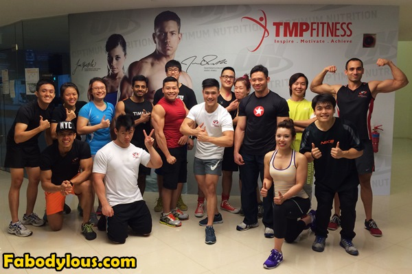All participants and trainers of ASP's Strength Revolution Tour at TMP Fitness, Singapore.