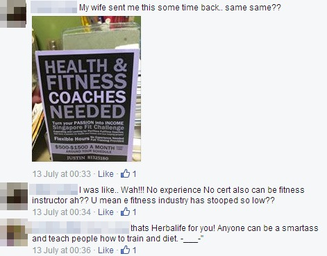 "On this flyer it says ""No Experienced Needed"". So yes, your Herbalife coaches can be someone who has NO experience in fitness at all! Why pay him a single cent to be your ""coach""?"